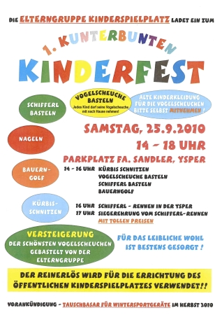 15.09.2010 einladung zum kinderfest - yspertal - bürgerservice mit, Einladungen